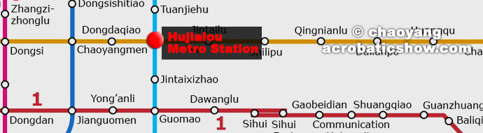 Chaoyang Theatre Subway Location, Hujialou station